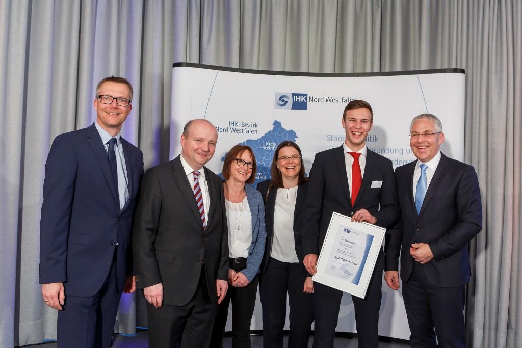 Die IHK Nord Westfalen verleiht den  Karl-Holstein-Preis  an die Prüfungsbesten des Jahres 2016. Foto: MünsterView /  Heiner Witte