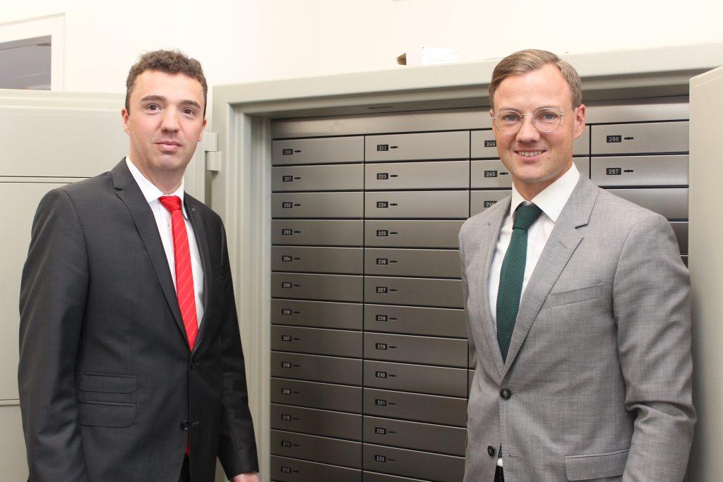 Das Sparkassen-Beratungscenter ist auch ein sicherer Ort für Unterlagen der Kunden, die sie in den Tresoren aufbewahren können.