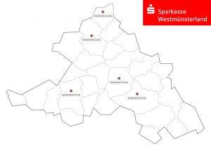 Im Kreis Coesfeld finden Beratungen regelmäßig in Coesfeld und in Dülmen statt und im Kreis Borken in Ahaus, Borken und Gronau.
